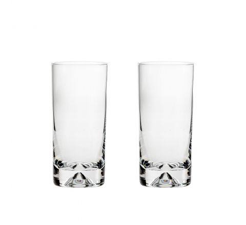 2 Highball Tumblers (Dimple based) 150mm (Gift Boxed)  | Royal Scot Crystal