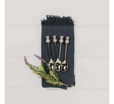4 Thistle Spoons - New!