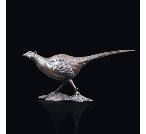 Small Pheasant Sculpture (w130mm) (Gift Boxed) | Richard Cooper Bronze