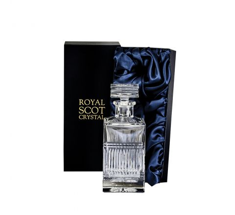 Art Deco Crystal Square Spirit Decanter (240mm) - 240mm (Presentation Boxed) | Royal Scot Crystal