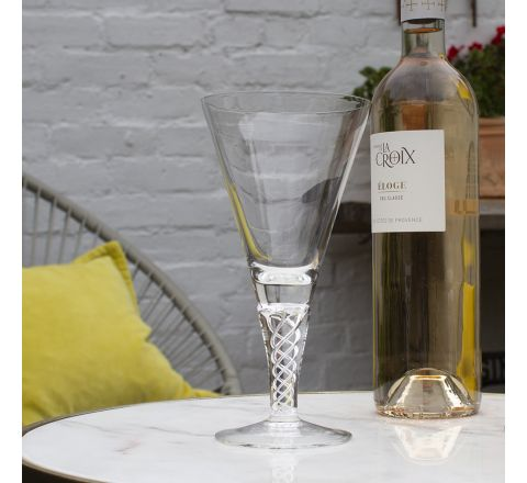 Jacobean Air Twist - 1 Large Wine Glass 192mm (Gift Boxed) | Royal Scot Crystal