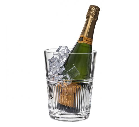 Art Deco Crystal Champagne Bucket - 200mm (Gift Boxed) | Royal Scot Crystal