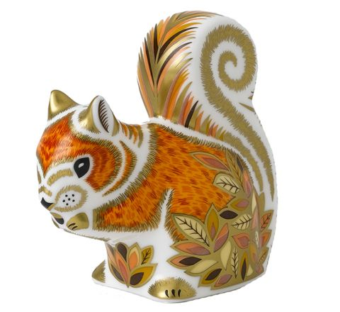 Autumn Squirrel 85mm (Gift Boxed) | Royal Crown Derby