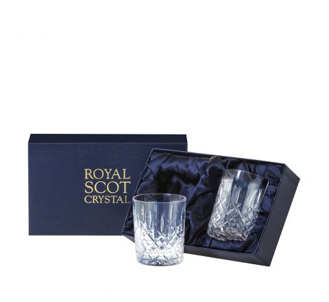 Aviemore - 2 Crystal Small Whisky Tumblers 87mm (Midnight Blue Presentation Boxed) | Royal Scot Crystal