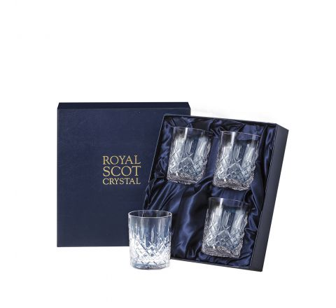 Aviemore - 4 Crystal Small Whisky Tumblers 87mm (Midnight Blue Presentation Boxed) | Royal Scot Crystal