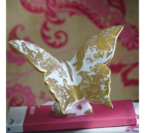 Aves Gold Butterfly 160mm (Gift Boxed) | Royal Crown Derby