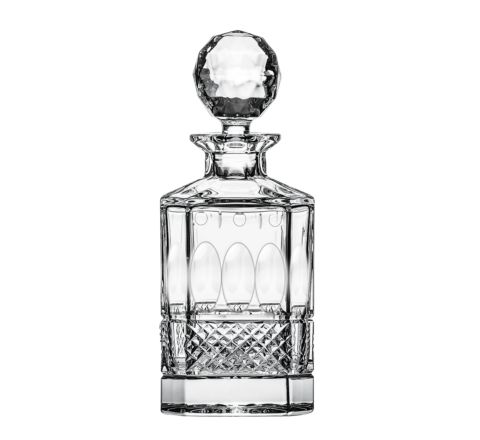 Belgravia - 1 Square Spirit Decanter (Clear) - 245mm (BROWN CARD BOX) (SECONDS QUALITY)   Royal Scot Crystal