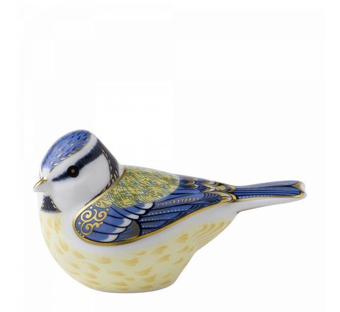 Garden Blue Tit 95mm (Gift Boxed) | Royal Crown Derby