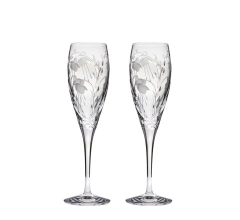 Catherine - 2 Crystal Champagne Flutes 218mm (Gift Boxed) | Royal Scot Crystal