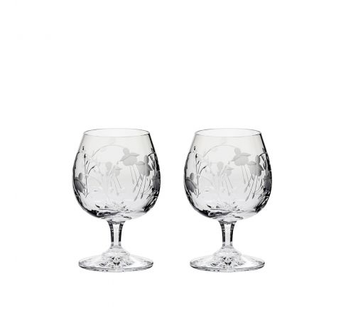 Catherine - 2 Crystal Brandy Glasses 132mm (Gift Boxed) | Royal Scot Crystal
