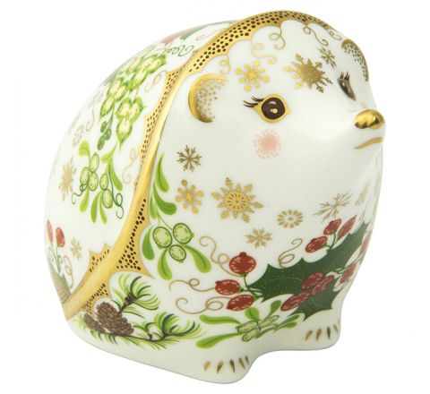 Christmas Hedgehog 80mm (Gift Boxed) | Royal Crown Derby