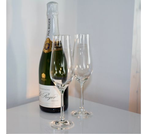 Classic Collection - Pair of Champagne Flute 225mm, 170ml (Gift Boxed) | Royal Scot Crystal