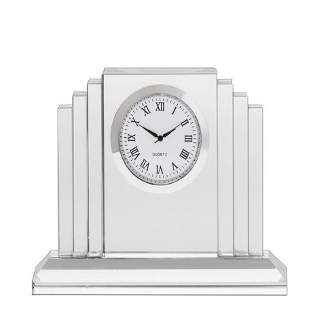 Clock - Art Deco Crystal Clock (Presentation Boxed)