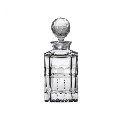 Coronet - Square Spirit Decanter with Hallmarked Sterling Silver Collar 245mm (Presentation Boxed) | Royal Scot Crystal