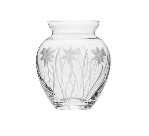 Daffodils Small Posy Vase 120mm (Gift Boxed) | Royal Scot Crystal