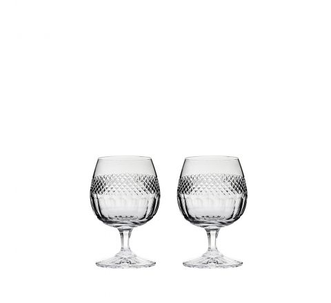 Diamonds - 2 Crystal Brandy Glasses 132mm (Gift Boxed) | Royal Scot Crystal