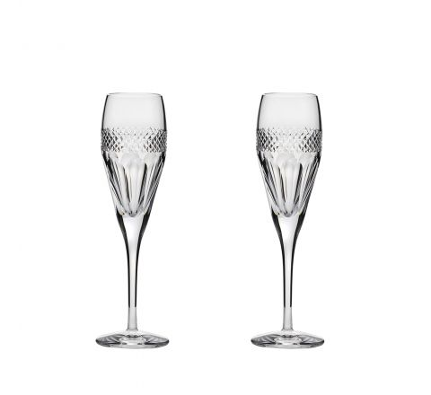 Diamonds - 2 Crystal  Champagne Flutes 218mm (Gift Boxed) | Royal Scot Crystal