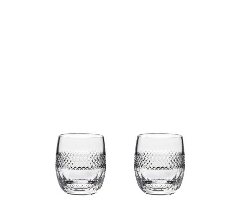 Diamonds - 2 Large Barrel / Water Tumblers 95mm (Gift Boxed) | Royal Scot Crystal
