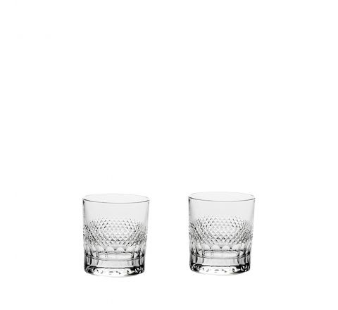 Diamonds - 2 Crystal Large Tumblers 95mm (Gift Boxed) | Royal Scot Crystal