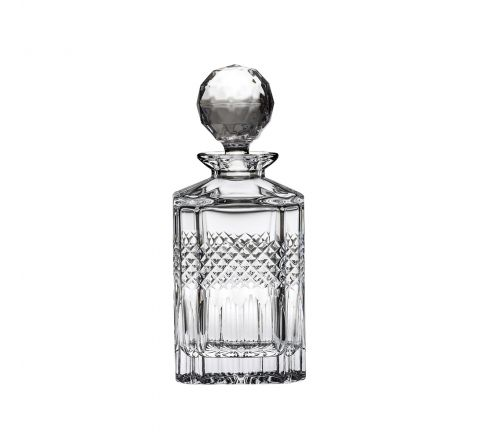 Diamonds - Crystal Square Spirit Decanter 245mm (Gift Boxed) | Royal Scot Crystal