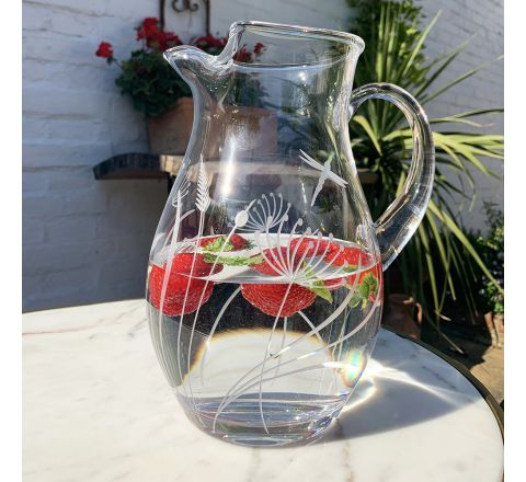 Dragonfly - Large Water Jug 2 litre, 240mm (Gift Boxed) | Royal Scot Crystal - NEW