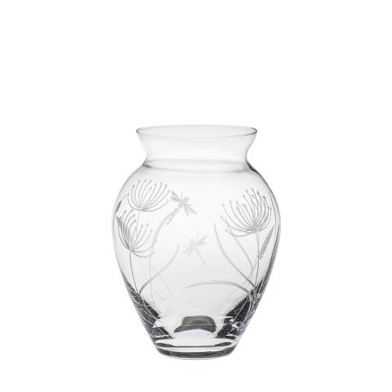 Dragonfly Large Posy Vase (Giftware) - 180mm (Gift Boxed) | Royal Scot Crystal