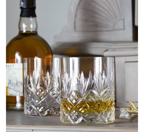 Edinburgh - 2 Large On the Rocks Tumblers 100 mm (Presentation Boxed) | Royal Scot Crystal