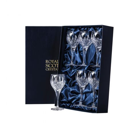 Edinburgh - 6 Large Crystal Wine Glasses 210mm (Presentation Boxed) | Royal Scot Crystal - New Shape