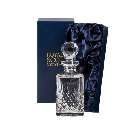 Edinburgh Square Spirit Decanter 245mm (Presentation Boxed) | Royal Scot Crystal