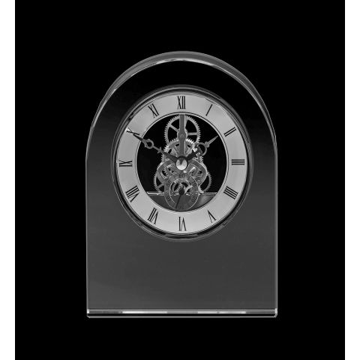 Clock - Contemporary Dome Crystal Clock 150mm (Presentation Boxed) | Royal Scot Crystal