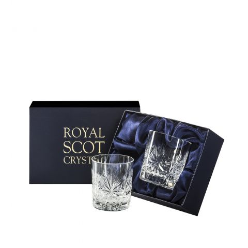 Edinburgh Star - 2 Whisky Tumblers 84mm (Presentation Boxed) | Royal Scot Crystal