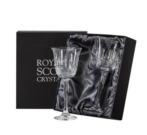 Eternity - 2 Crystal Large Wine Glasses - 210mm (Presentation Boxed) | Royal Scot Crystal