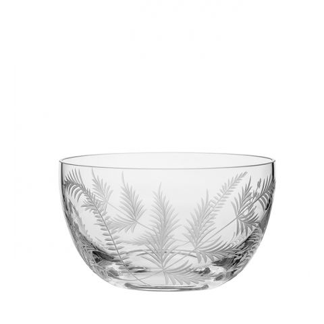 Woodland Fern Fruit/Salad Bowl - 190mm (Gift Boxed) | Royal Scot Crystal