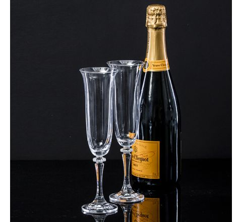 Classic Collection - Pair of Champagne Flutes 225mm (Gift Boxed)  | Royal Scot Crystal