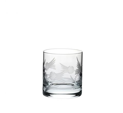 Flower of Scotland (thistle) Large Tumbler 88mm (Gift Boxed) | Royal Scot Crystal