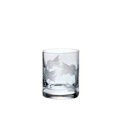 Flower of Scotland Tot (Shot) Glass (Straight Sided) 60mm (Gift Boxed) | Royal Scot Crystal