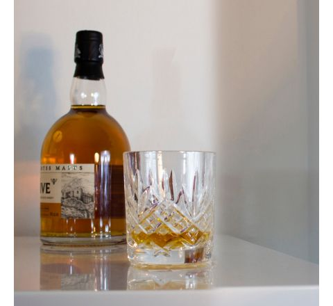 Glencoe - Single Whisky Tumbler 84 mm (Gift Boxed) | Royal Scot Crystal