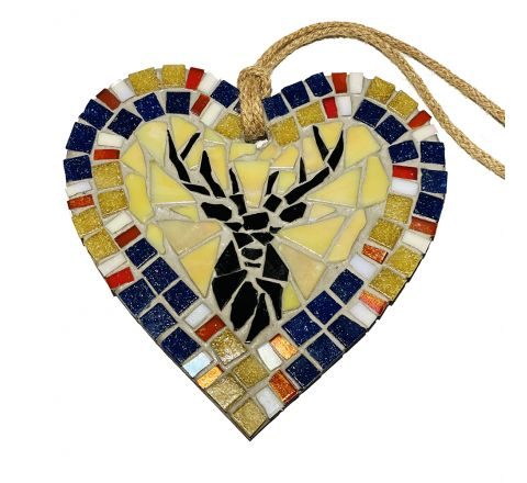 Stag (Gold) Mosaic Art Wall Hanging