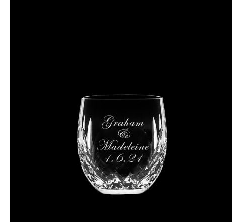 Personalised - 1 Hand Cut with Engraving Highland Whisky Barrel Tumbler - 85mm (Gift Boxed) | Royal Scot Crystal