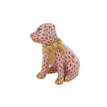 Doggie Dazzle Rust - Porcelain Animal Figurine 60mm | Herend
