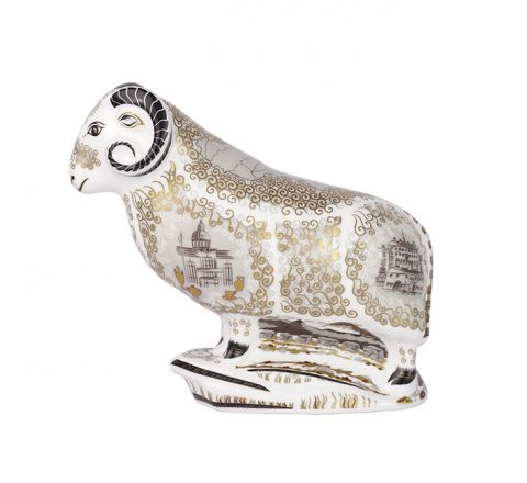 Heritage Ram - Limited Edition Paperweight (h140mm) (Gift Boxed) | Royal Crown Derby