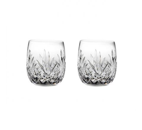 Highland Crystal 2 Gin & Tonic Tumblers (G&T) 12oz 95mm (Barrel Shaped) (Gift Boxed) | Royal Scot Crystal
