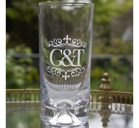 Single Hiball Tumbler (Dimple based) Engraved G&T (Gin) (Gift Boxed)