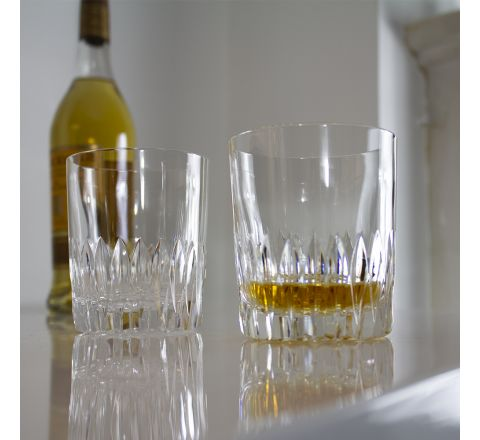 Reflections - 2 Large Crystal Tumblers 95 mm (Midnight Blue Presentation Boxed) | Royal Scot Crystal