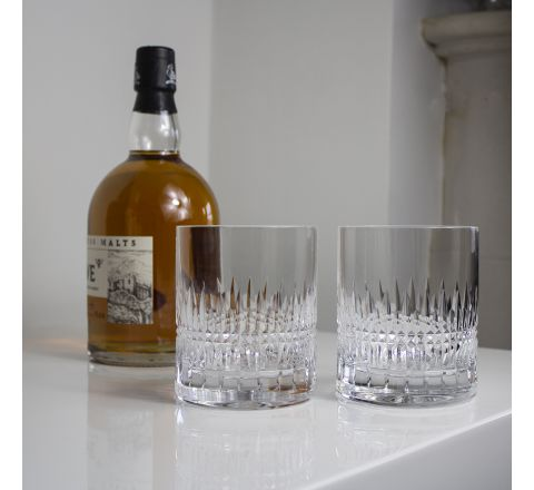 """Iona 2 Large """"on the Rocks' Tumblers 100mm (Presentation Boxed) 