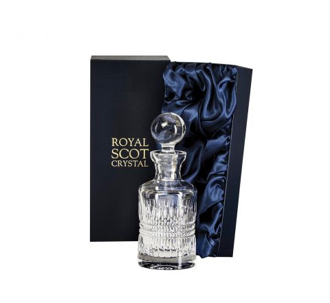 Iona Single Malt Round Spirit Decanter 250mm (Presentation Boxed) | Royal Scot Crystal