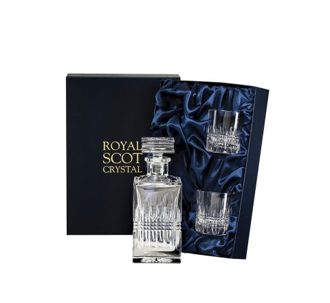 Iona Square Spirit Set (Presentation Boxed) | Royal Scot Crystal