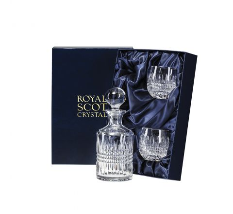 Iona Single Malt Whisky Set (Presentation Boxed) | Royal Scot Crystal