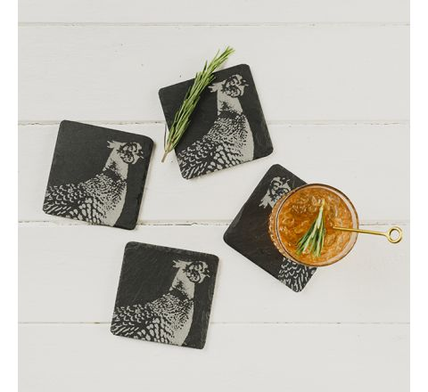 Slate Pheasant Coasters (set of 4)