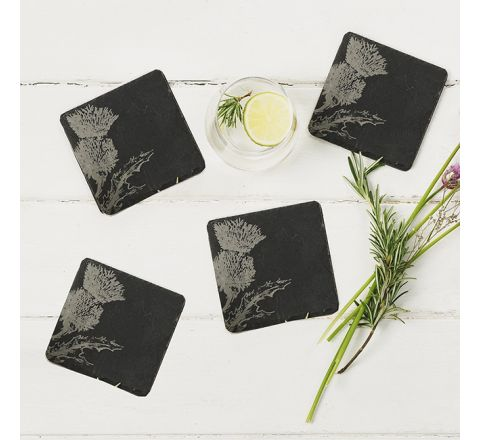 Slate Thistle Coasters (set of 4)
